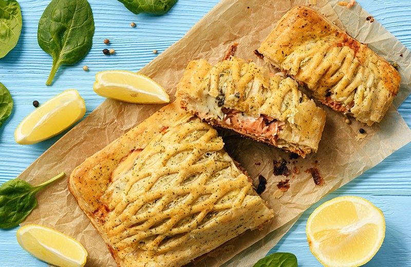 Recette croustillant saumon et potimarron