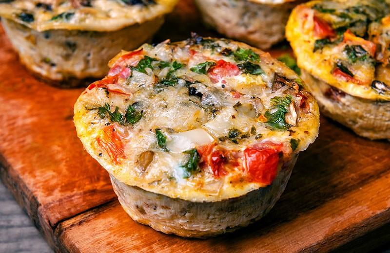 Recette egg muffins végétariens