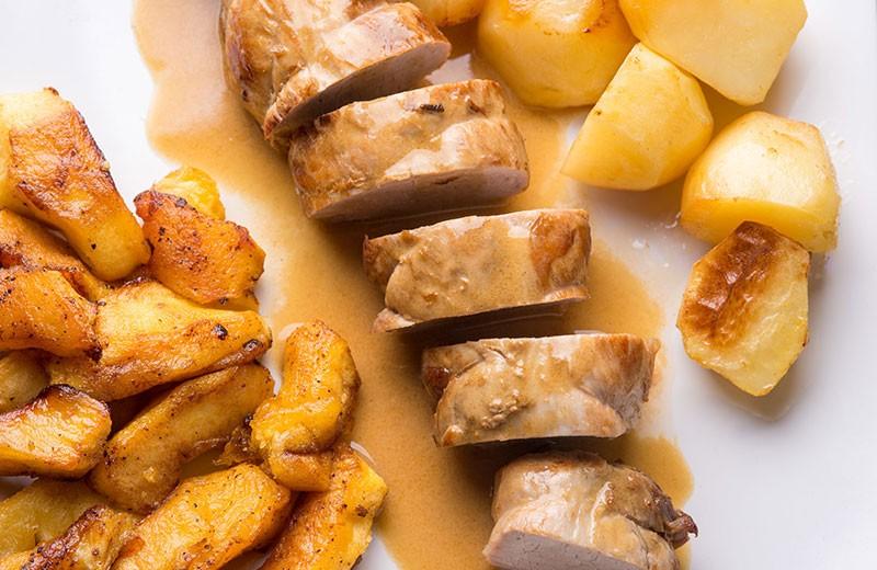 Recette filet de porc au cidre et aux pommes caramélisées
