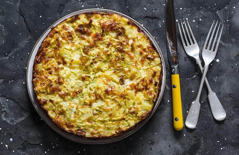 Recette frittata aux pommes de terre et lardons