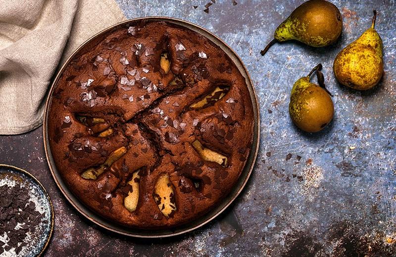Recette gâteau poires et chocolat sans gluten