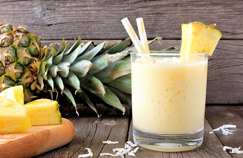 Recette milkshake à l'ananas