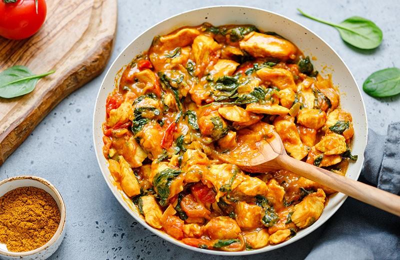 Recette poulet au curry express