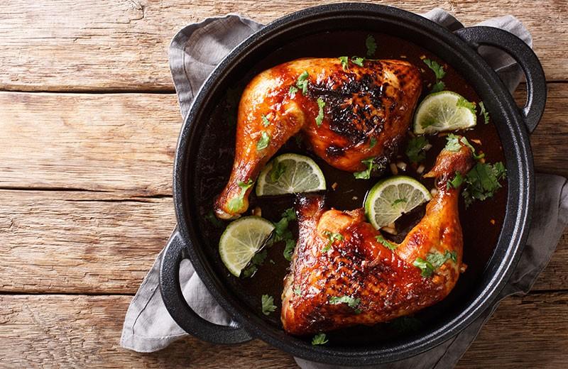 Recette poulet rôti aux deux citrons