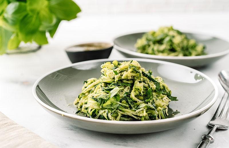 Recette salade de courgettes en spaghetti