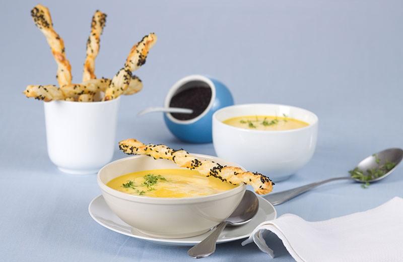 Recette soupe de carotte et petits feuilletés