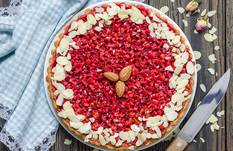 Recette tarte aux pralines