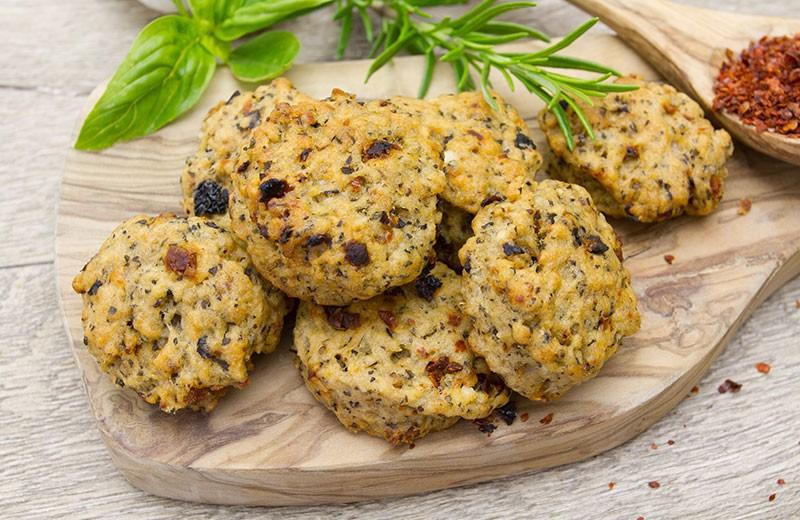 Recette cookies tomates séchées et chèvre