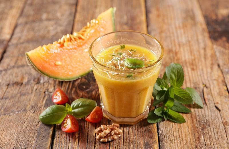 Recette gaspacho de melon et concombre