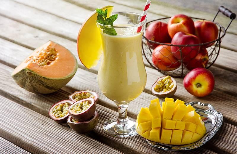 Recette milkshake à la mangue et au melon