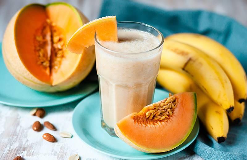 Recette smoothie banane, pomme et melon
