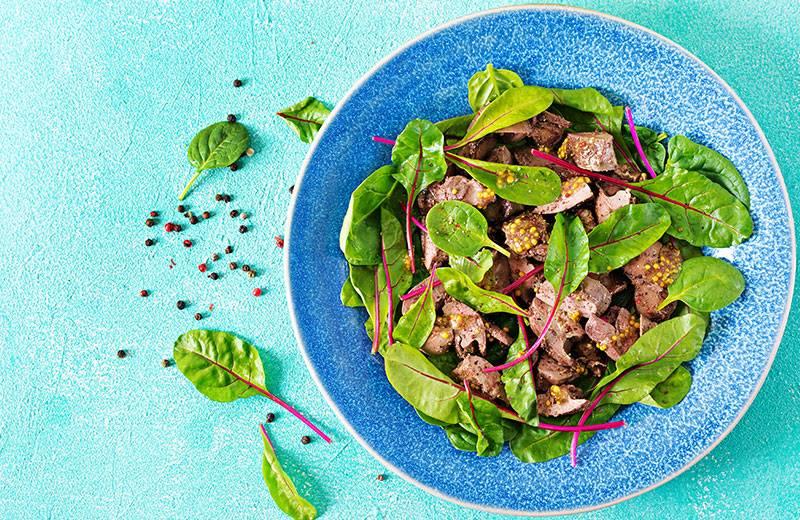 Recette salade de foies de volaille