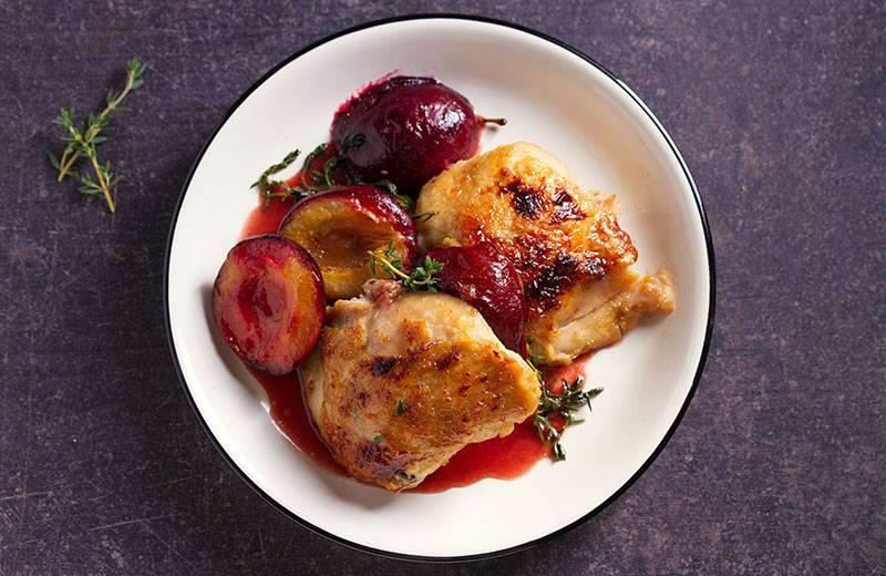 Recette poulet aux prunes