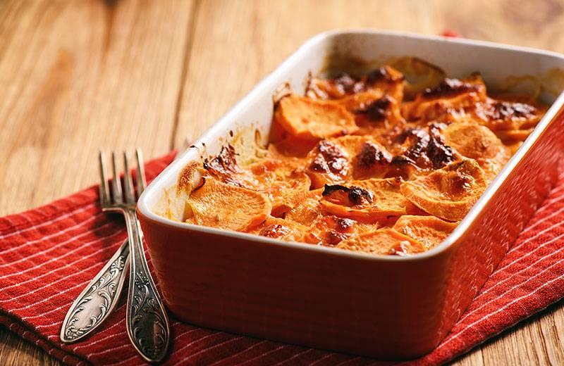 Recette gratin de patates douces